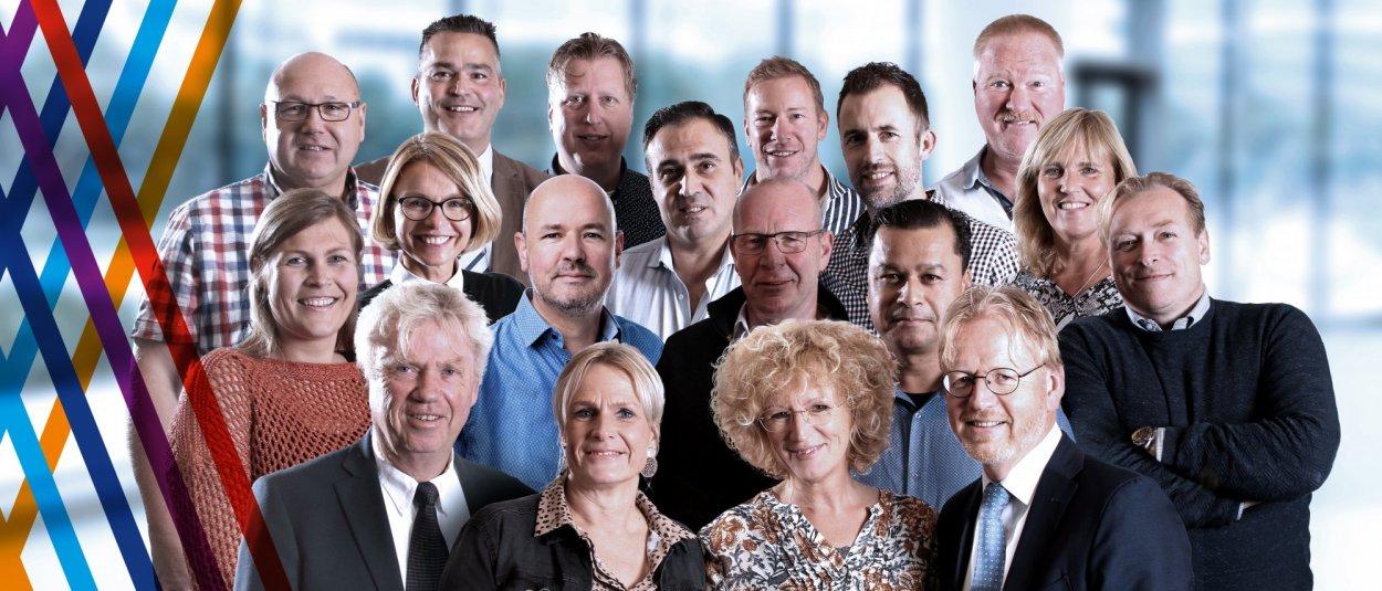 Groepsfoto medewerkers van het ondernemersloket